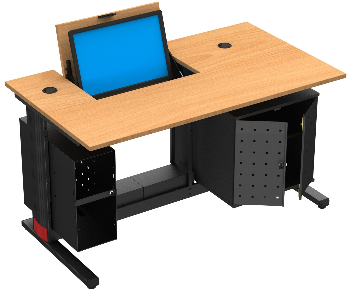 table informatique ecran escamotable mobilier goz. Black Bedroom Furniture Sets. Home Design Ideas