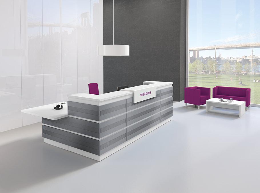 banque d 39 accueil access mobilier goz. Black Bedroom Furniture Sets. Home Design Ideas
