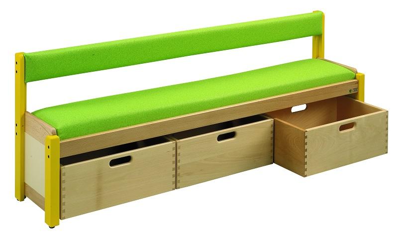 cool banc dossier avec bacs sur roulettes with banc avec. Black Bedroom Furniture Sets. Home Design Ideas